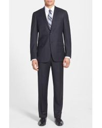 Hart Schaffner Marx - New York Classic Fit Solid Wool Suit - Lyst