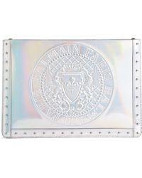 Balmain - Embossed Coin Calfskin Bag - - Lyst