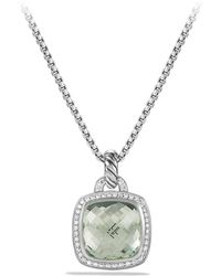 David Yurman - 'albion' Pendant With Semiprecious Stone And Diamonds - Lyst