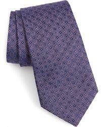 John Varvatos - Geo Pattern Silk Tie - Lyst