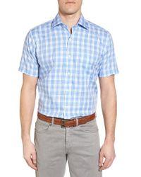 Peter Millar - Crown Ease Sloan Regular Fit Plaid Sport Shirt - Lyst