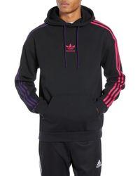 adidas Originals - 3-stripe Hoodie Sweatshirt - Lyst