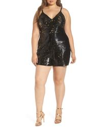 1408c73c142 Lyst - Leith Metallic Surplice Romper in Metallic