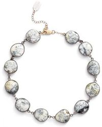 Ela Rae - Suze Semiprecious Stone Collar Necklace - Lyst