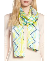 Echo - Geo Lattice Silk Scarf - Lyst