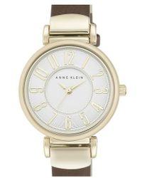 Anne Klein - Leather Strap Watch - Lyst