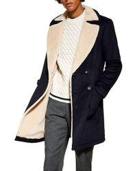 TOPMAN - Faux Shearling Lined Jacket - Lyst