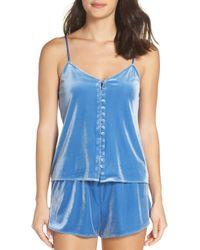 Chelsea28 - Starry Night Velvet Pajama Shorts - Lyst