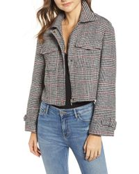 BISHOP AND YOUNG - Bishop + Young Houndstooth Plaid Jacket - Lyst