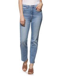 PAIGE - Vintage - Sarah High Waist Straight Leg Jeans - Lyst