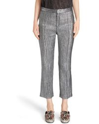 Isabel Marant - Dansley Party Time Lame Crop Pants - Lyst