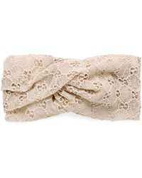 d75e187397c Lyst - Gucci Crystal Hair Comb in White