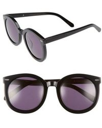 d6cfb5e0a23 Lyst - Karen Walker Super Duper Thistle Sunglasses Black in Metallic