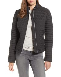 Andrew Marc - Honeycomb Quilted Moto Jacket - Lyst