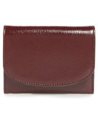 Nordstrom - Leather Card Case - Burgundy - Lyst