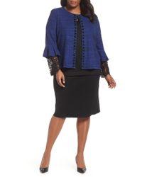 Ming Wang - Embellished Knit Jacket - Lyst