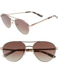 Ted Baker - 55mm Aviator Sunglasses - Lyst
