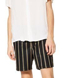 TOPMAN - Striped Swim Shorts - Lyst
