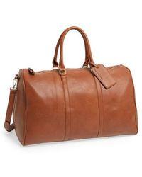 Sole Society - 'lacie' Faux Leather Duffel Bag - - Lyst