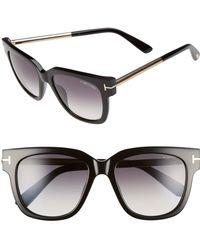 adaa74ba00a3 Tom Ford - 'tracy' 53mm Retro Sunglasses - Shiny Black/ Gradient Smoke -