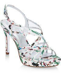 0fcd2db1dac Lyst - Adrianna Papell Adri Platform Sandal in Metallic