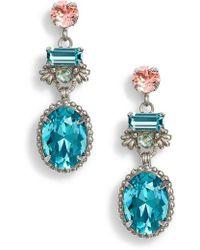 Sorrelli - Bergenia Crystal Drop Earrings - Lyst