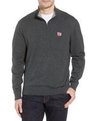 Cutter   Buck - New York Giants - Lakemont Regular Fit Quarter Zip Sweater  - Lyst f248b57ca