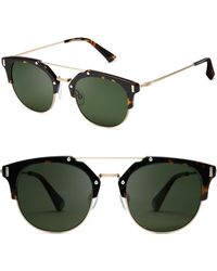 70058a1aed Hyde 57mm Polarized Round Sunglasses.  90. Nordstrom · MVMT - Weekend 51mm Polarized  Sunglasses - Noir Tortoise - Lyst