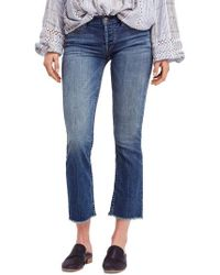 Free People - We The Free By Austin Raw Hem Ankle Jeans - Lyst