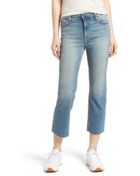 Outlet Pre Order Official Site For Sale Current/elliott Woman The Crossover Distressed Mid-rise Straight-leg Jeans Light Denim Size 31 Current Elliott Outlet New Styles Discount Codes Shopping Online 5BAAiF