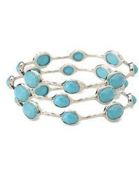 Ippolita - 'rock Candy' 8-stone Sterling Silver Bangle (online Only) - Lyst