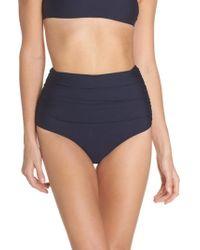 J.Crew | J.crew Ruched High Waist Bikini Bottoms | Lyst