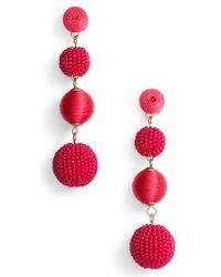 Tasha | Mixed Bead & Thread Drop Earrings | Lyst