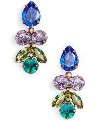 Sorrelli - Lotus Flower Crystal Drop Earrings - Lyst