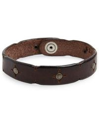Orciani - Wax Leather Bracelet - Lyst