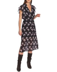 1.STATE - Bloomsbury Floral Ruffle Sleeve Midi Dress - Lyst