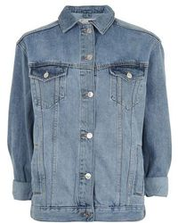 TOPSHOP - Oversize Denim Jacket - Lyst
