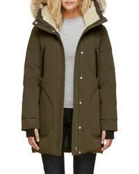 SOIA & KYO - Genuine Coyote Fur Trim Down Parka With Fleece Lining - Lyst