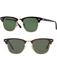 0bb882f714 Lyst - Ray-Ban  classic Clubmaster  51mm Polarized Sunglasses in Green