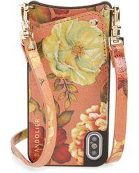 Bandolier - Emma Iphone X/xs Leather Crossbody Case - - Lyst