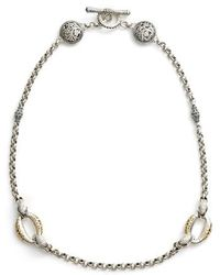 Konstantino | Classics Daphne 18k Yellow Gold & Sterling Silver Station Necklace | Lyst