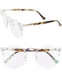 Grey Ant - Solo 57mm Rimless Optical Glasses - Clear/ Gold - Lyst