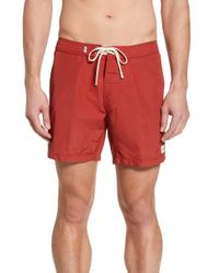 Rhythm - Classic Solid Swim Trunks - Lyst