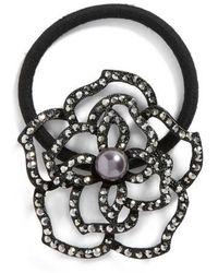 Tasha | Flower Garden Crystal Ponytail Holder | Lyst