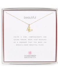 Dogeared - Butterfly Pendant Necklace - Lyst