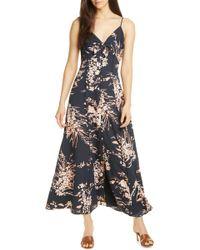 9d11711128e Joie Chisuzu Sleeveless Multi-printed Cotton Maxi Dress in White - Lyst