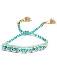 Rebecca Minkoff | Striped Seed Beads Friendship Bracelet | Lyst