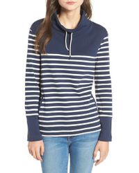 Barbour - Rief Stripe Cotton Funnel Neck Sweater - Lyst