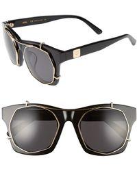 ee58436f99c2 Versace 57mm Retro Sunglasses in Black - Lyst