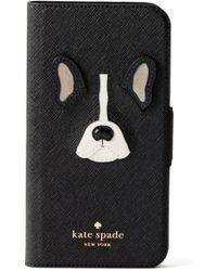 Kate Spade - Antoine Applique Leather Iphone X/xs Folio Case - - Lyst